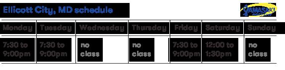 ellicott-schedule